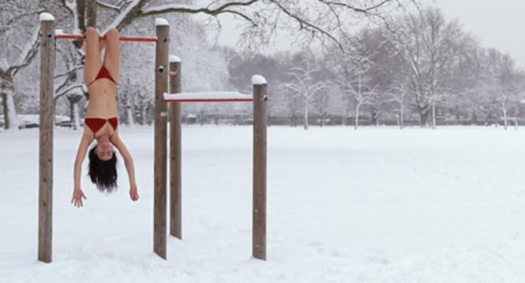Фото к статье: Фитнес зимой: как не отморозить уши