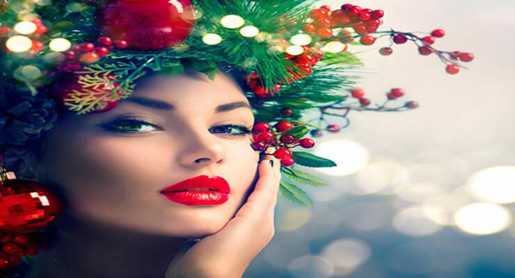 Фото к статье: Новогодний макияж для тех, кто встретит праздник дома, на улице, в клубе