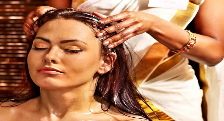 Фото к статье: Массаж головы по аюрведе для красивых волос