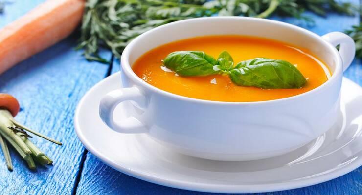 Фото к статье: Морковно-имбирный суп