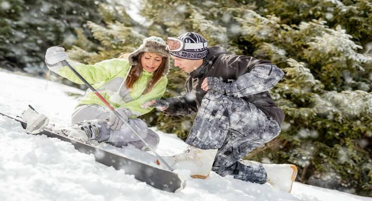 Фото к статье: Что делать, если получил спортивную травму на катке, в горах, на лыжной прогулке