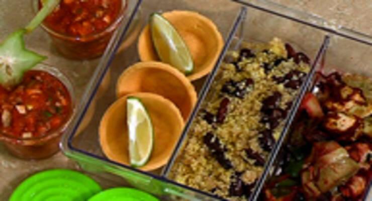 Фото к статье: Гаспачо с грецкими орехами, индейка и кускус с красной фасолью