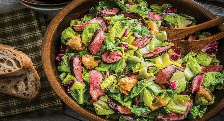 Фото к статье: Рецепт салата с ростбифом