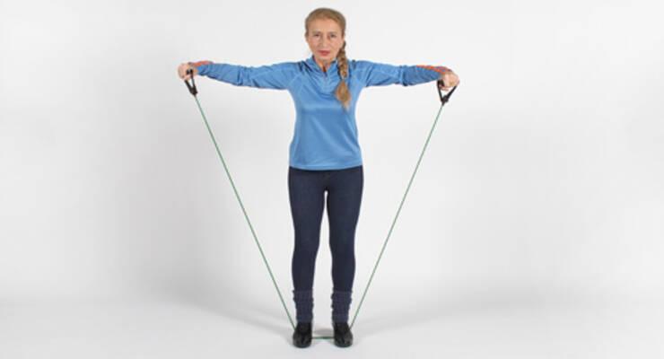 Фото к статье: Упражнения с эспандером для верхней части туловища и рук (ФОТО)