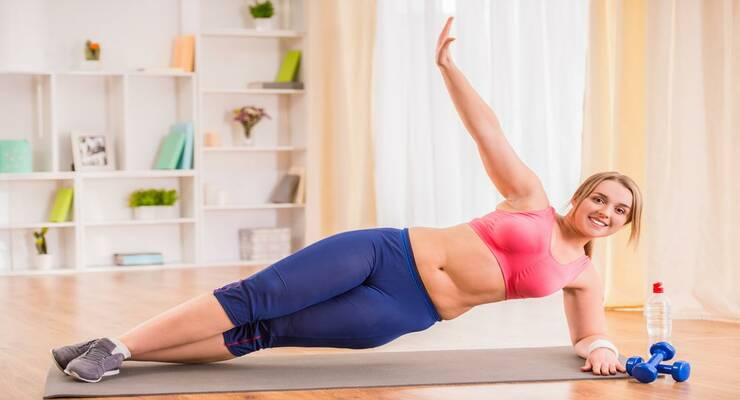 Фото к статье: Фитнес для полных: упражнения для тех, у кого большой лишний вес