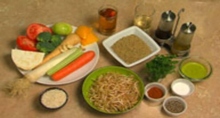 Фото к статье: Овощи с проросшей фасолью, рис с песто, суп из чечевицы