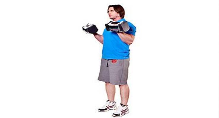 Фото к статье: Тренировка с наборными гантелями на верхнюю часть корпуса для мужчин