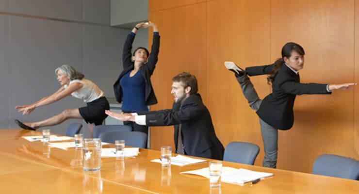 Фото к статье: Фитнес в офисе. Производственная гимнастика спасает жизнь (ВИДЕО)