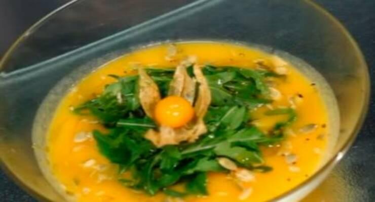 Фото к статье: Суп-пюре из тыквы и моркови