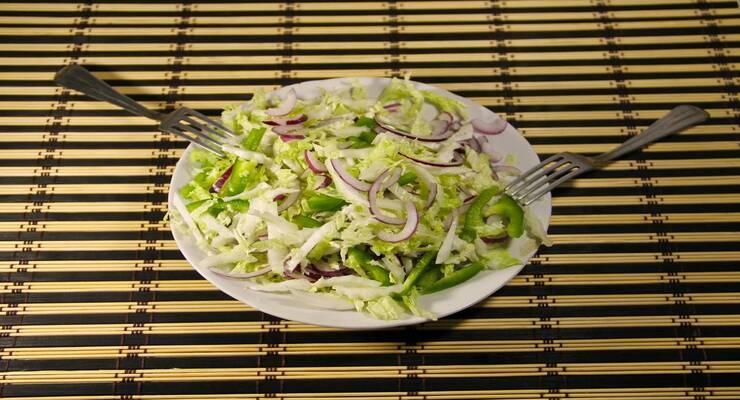 Фото к статье: Шелковый салат