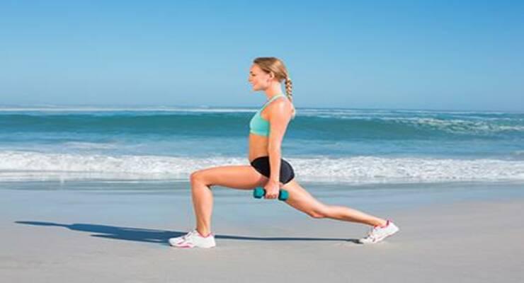 Фото к статье: Функциональная тренировка на пляже (ФОТО)