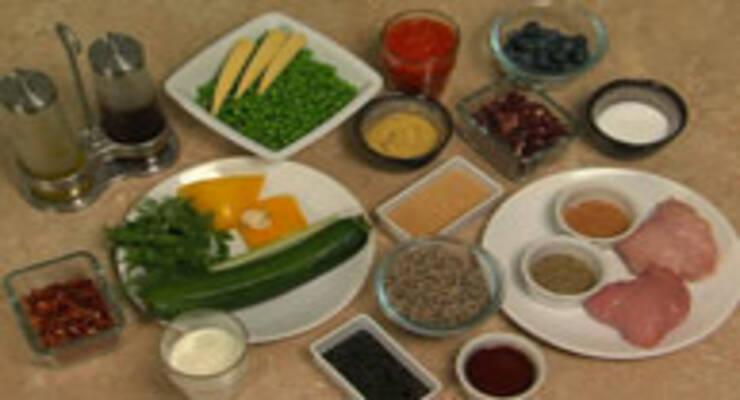 Фото к статье: Индейка в йогурте, кабачки в томатном соусе, компот из шиповника