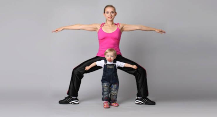 Фото к статье: Как Марина Корпан дает дочери уроки бодифлекса