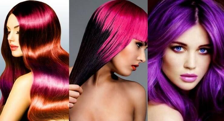 Фото к статье: Временное окрашивание волос: яркие тренды лета