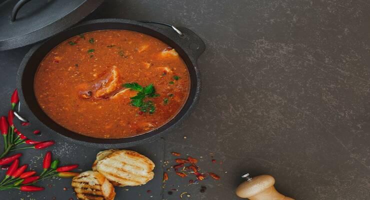 Фото к статье: Рецепт рыбного супа с томатами