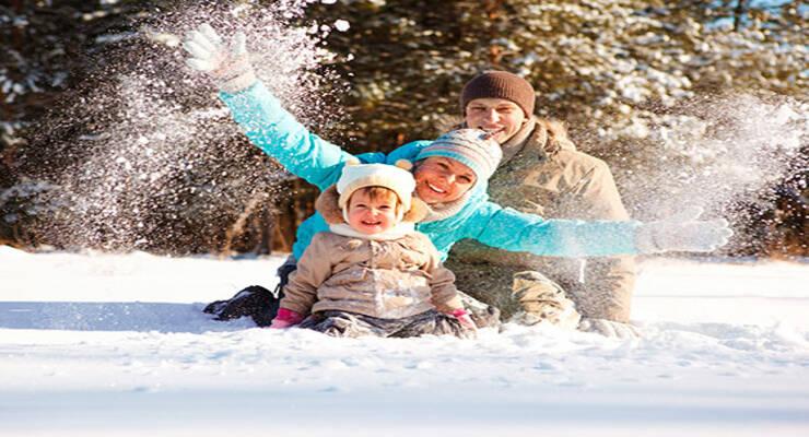 Фото к статье: Лучшие зимние игры с детьми на свежем воздухе